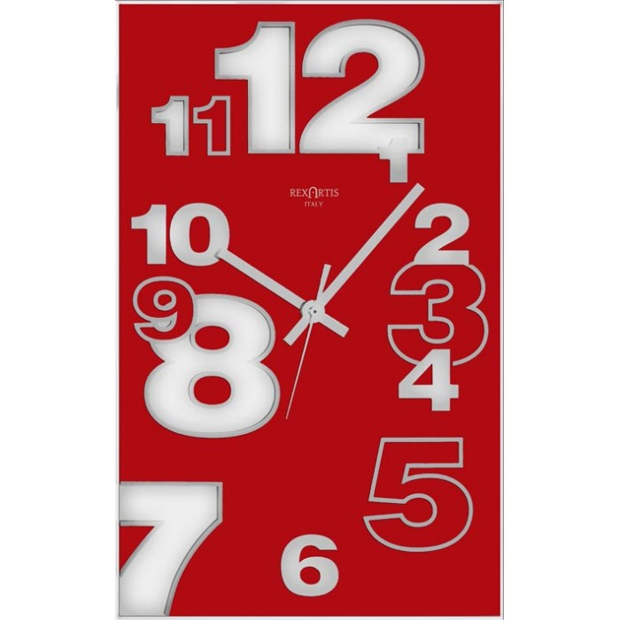 VERTICAL WALL CLOCK - DIRK RED