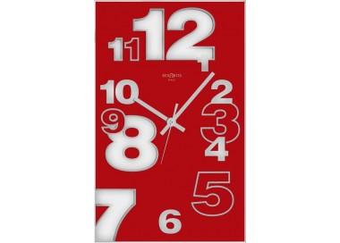 vertical red wall clock rexartis dirk