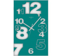 aquamarine wall clock, vertical clocks, rexartis dirk