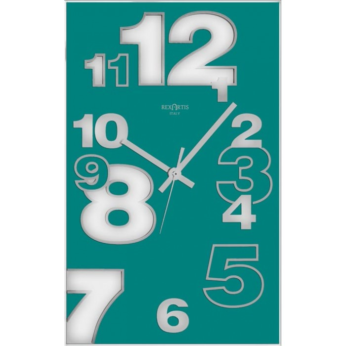 VERTICAL WALL CLOCK - DIRK AQUAMARINE
