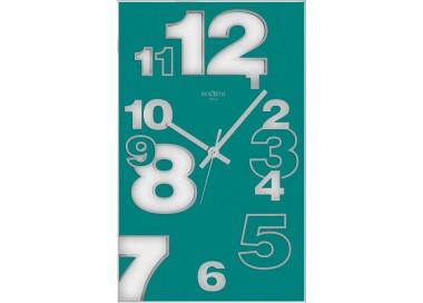 aquamarine wall clock, vertical clocks, rexartis dirk