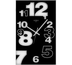 orologio da muro nero, in vetro, dirk rexartis