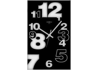 horloge murale, noir, verre, dirk rexartis