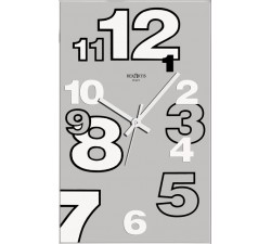 horloge murale élégante dirk argent rexartis
