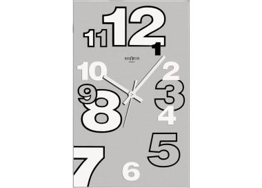 orologio da muro elegante dirk silver rexartis
