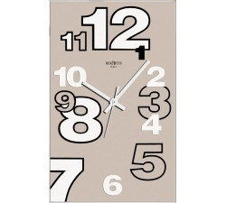 modern wall clocks, light taupe, dirk rexartis