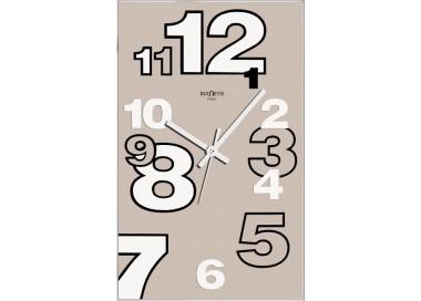 modern wall clocks, light taupe, dirk rexartis