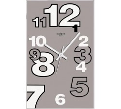 wall clock rexartis dirk tortora, glass