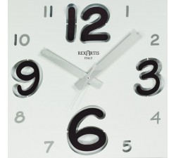 wall clock white with black numbers