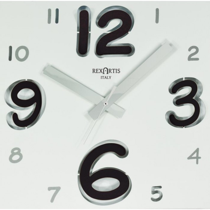 DIGIT WALL CLOCK - WITH BLACK NUMBER