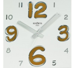 wall clock with white numbers yellow gold, digit rexartis