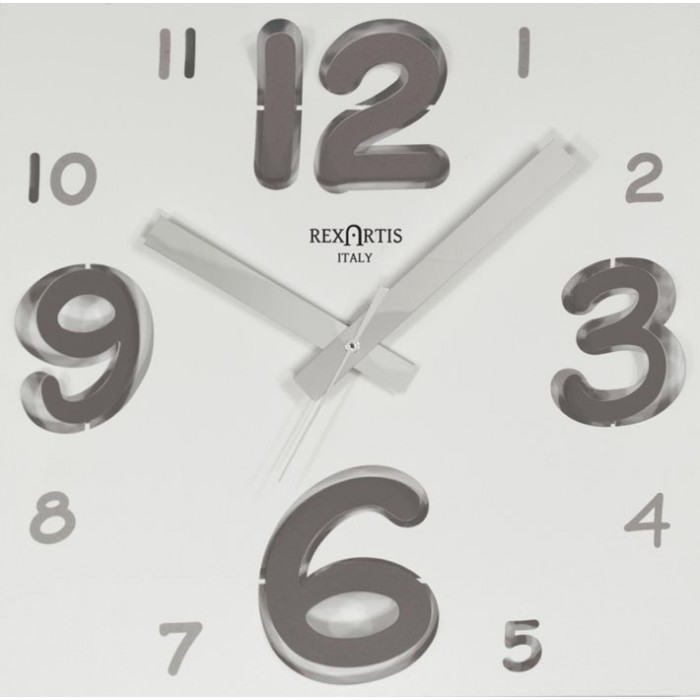 WALL CLOCK DIGIT SILVER WHITE DIAL