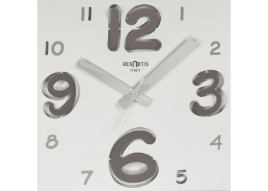 wall clocks modern, digit silver rexartis