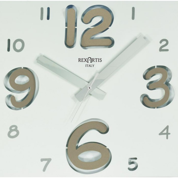 WALL CLOCK DIGIT DOVE CLEAR WHITE DIAL