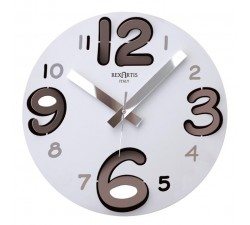 ROUND WALL CLOCK WITH TAUPE NUMBERS