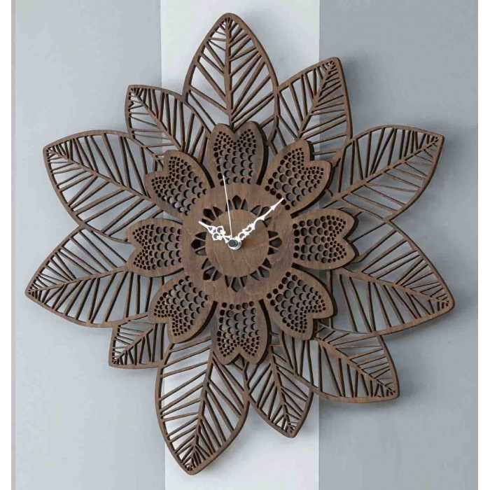 MODERN WENGÈ WOOD WALL CLOCK - DETTAGLI COLLECTION