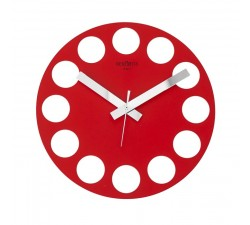 RED WALL CLOCK ROUNDTIME REXARTIS
