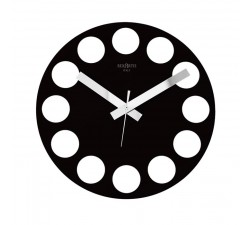 black wall clocks, roundtime rexartis