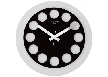 horloge murale blanc et noir