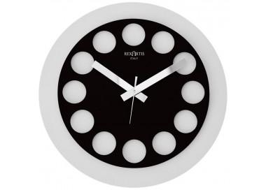 orologio da parete bianco e nero