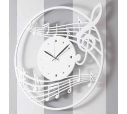 grande horloge murale en bois laqué