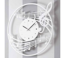 big glossy white wood italian wall clock
