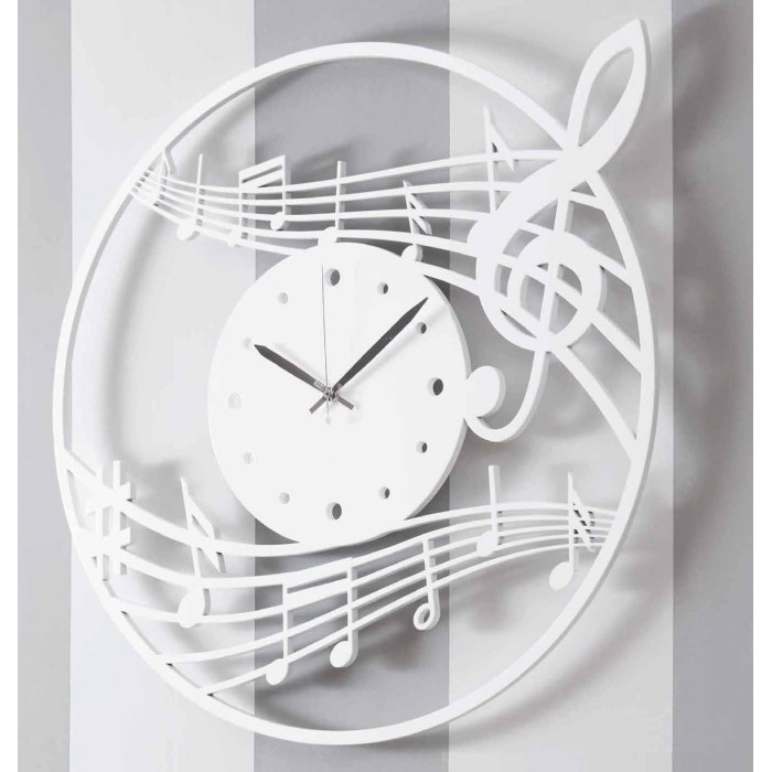 CLOCK MODERN WOODEN WHITE WALL - THE DETAILS