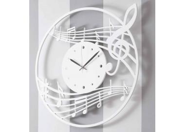 big glossy white wood italian wall clock