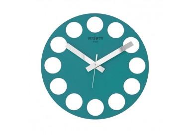 orologio da parete azzurro acquamare, roundtime rexartis