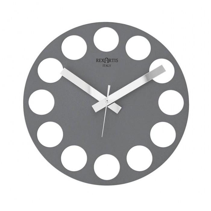 GREY WALL CLOCK ROUNDTIME REXARTIS