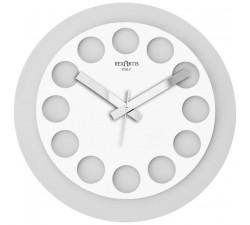 orologio da parete bianco rotondo moderno roundtime rexartis