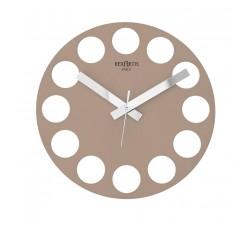 orologio da parete moderno, di design, tortora chiaro, roundtime rexartis