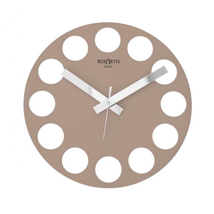 LIGHT TAUPE WALL CLOCK ROUNDTIME REXARTIS