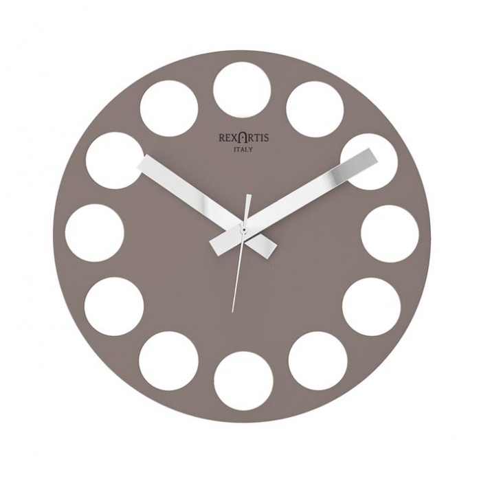 TAUPE WALL CLOCK ROUNDTIME REXARTIS