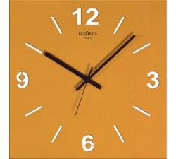 orologio da parete giallo oro, stilewood rexartis