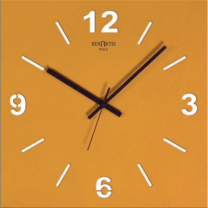 WALL CLOCK STYLE WOOD YELLOW GOLD