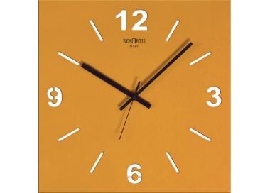 horloge murale, jaune d'or, stilewood rexartis