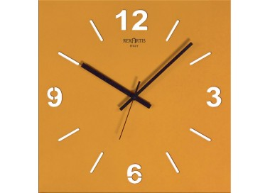 wall clock, golden yellow, stilewood rexartis