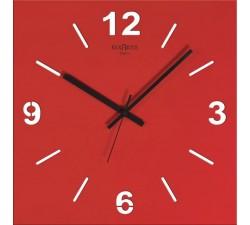 horloge murale rouge, stilewood rexartis