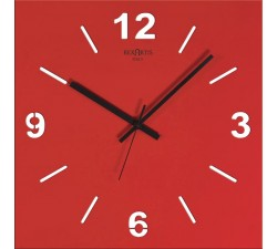 orologio da parete rosso, stilewood rexartis