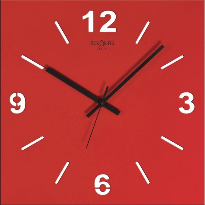 RED WALL CLOCK STILEWOOD REXARTIS
