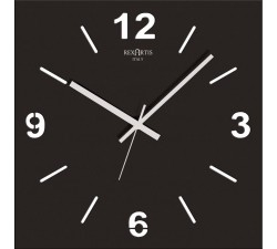 BLACK WALL CLOCK STILEWOOD REXARTIS