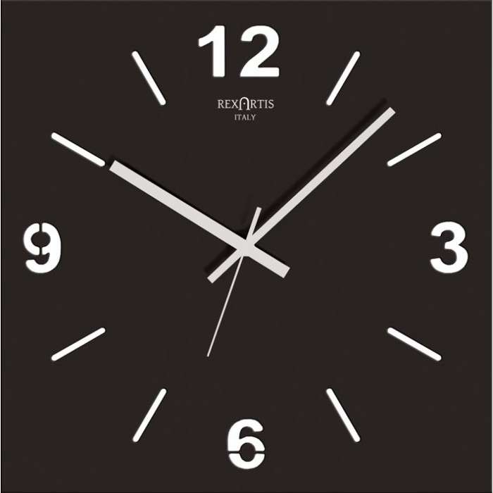 WALL CLOCK STYLE WOOD BLACK