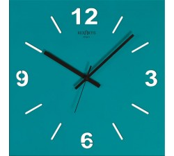 aquamarine wall clocks, design wall clocks