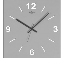 grey wall clocks, square, stilewood rexartis