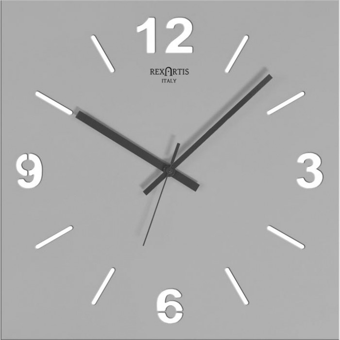 GREY WALL CLOCK STILEWOOD REXARTIS