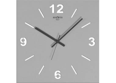 orologi da parete moderni, grigio silver, stilewood rexartis