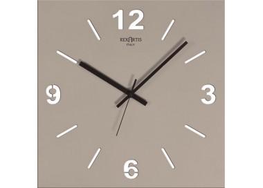 orologio da parete tortora chiaro, rexartis stilewood
