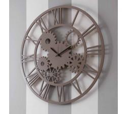 orologio legno traforato laccato collezione i dettagli