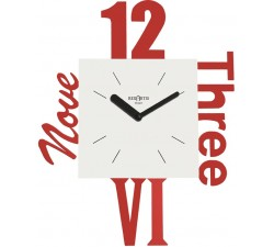 horloges murales modernes, colorés, horloge rouge